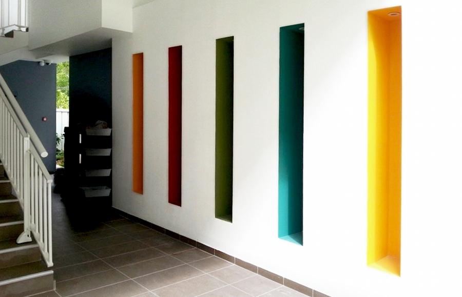 Intérieur réalisé avec la gamme Maestria : Aquastria